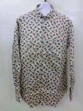 Jipijapa/リバティープリントラウンドカラーシャツ